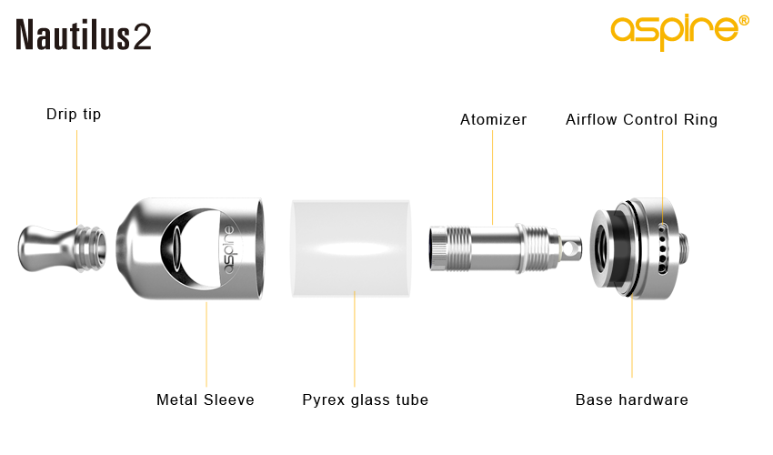Aspire Nautilus 2 - Exploded view